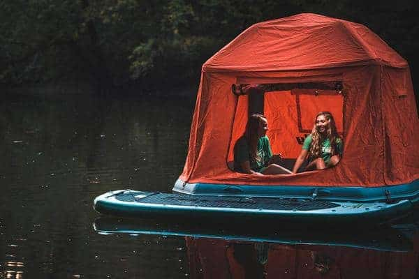 Shoal Tent on the Great Miami River